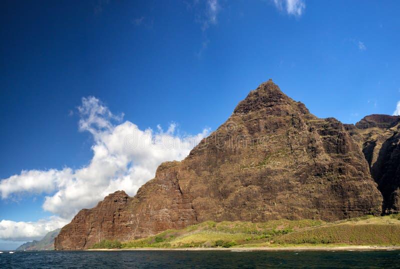 Na梵语海岸,考艾岛,夏威夷 库存照片