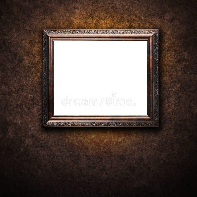 Na Ścianie Antyk stara Rama zdjęcia royalty free