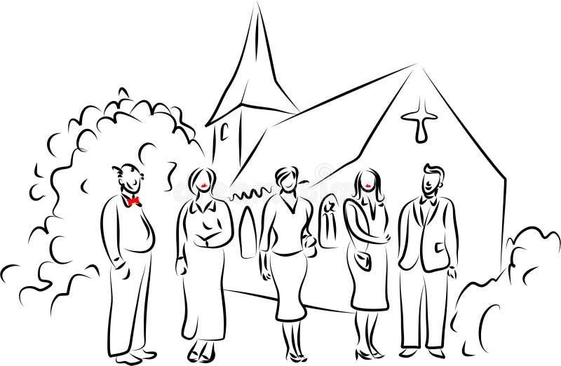 na ślub ilustracja wektor