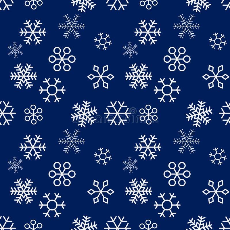 Na błękitny tle bożenarodzeniowi płatek śniegu bezszwowy wzoru również zwrócić corel ilustracji wektora royalty ilustracja