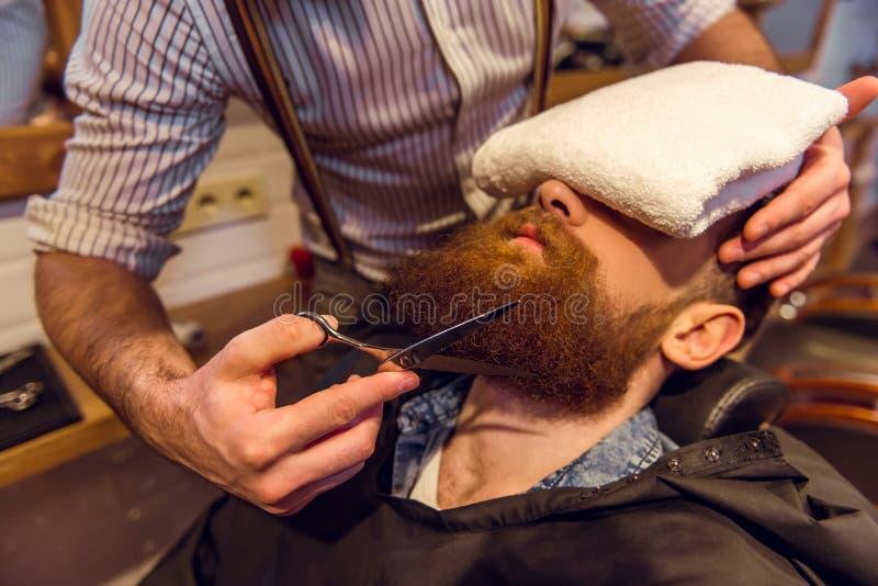 Na barbearia fotografia de stock royalty free