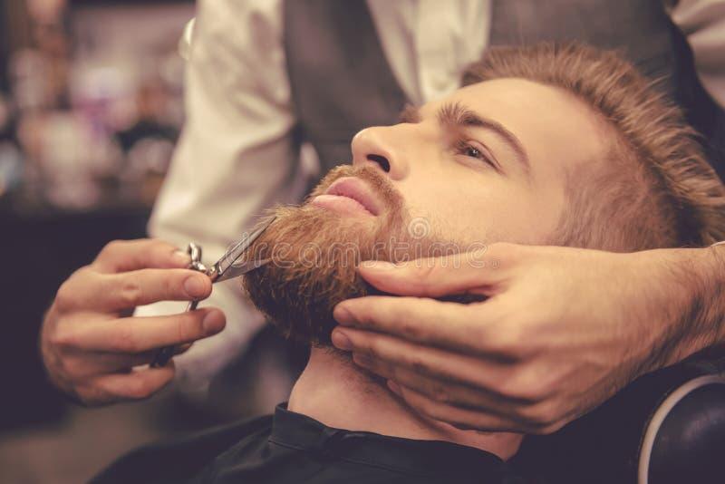 Na barbearia imagem de stock
