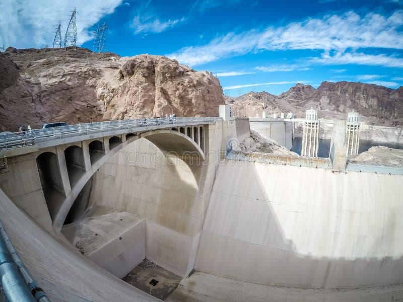 Na barragem Hoover no hidromel do lago fotografia de stock