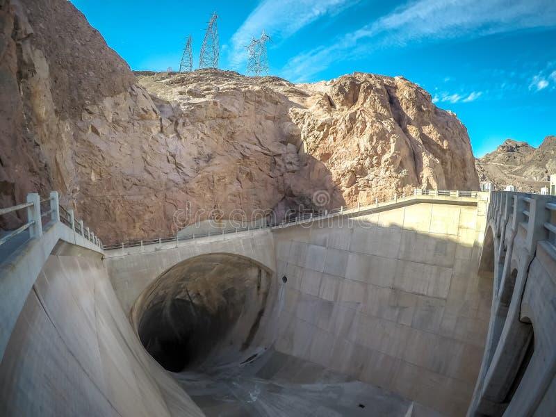 Na barragem Hoover no hidromel do lago imagem de stock
