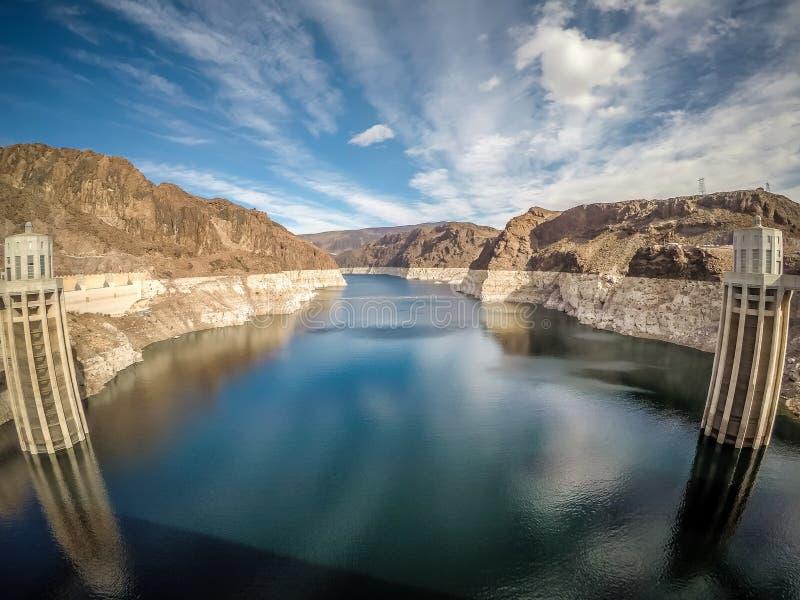 Na barragem Hoover no hidromel do lago imagem de stock royalty free