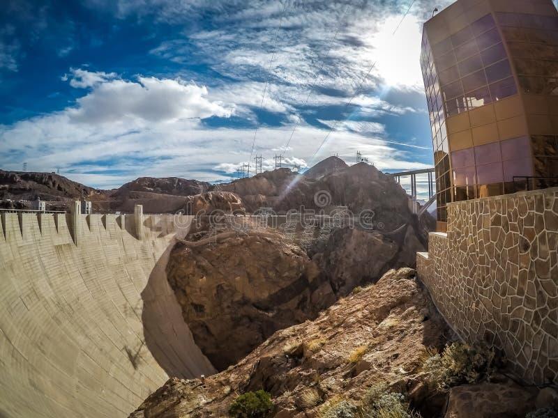 Na barragem Hoover no hidromel do lago fotos de stock royalty free
