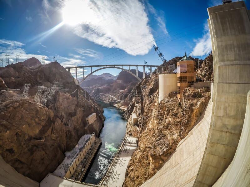 Na barragem Hoover no hidromel do lago foto de stock royalty free