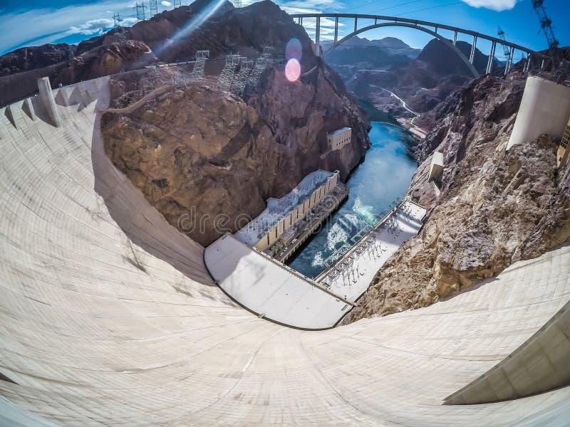 Na barragem Hoover no hidromel do lago imagens de stock royalty free