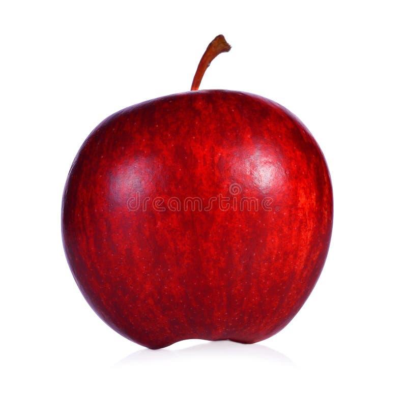 Na biały tle świeży czerwony jabłko zdjęcie stock