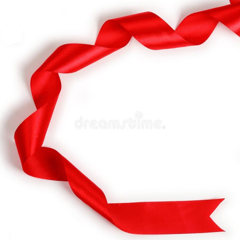Na biały tle czerwony Faborek zdjęcia stock