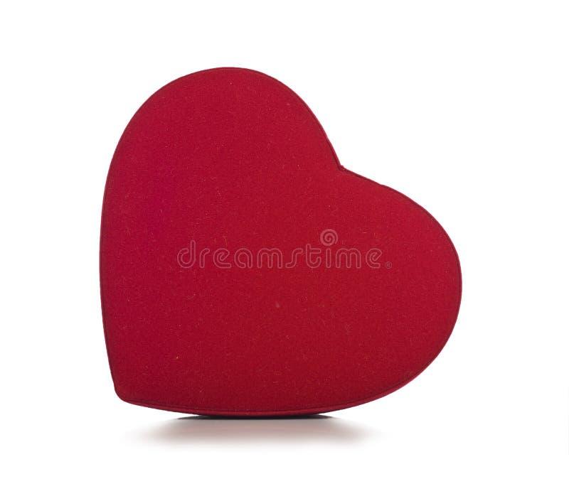 Na biały tle czerwony serce obraz stock
