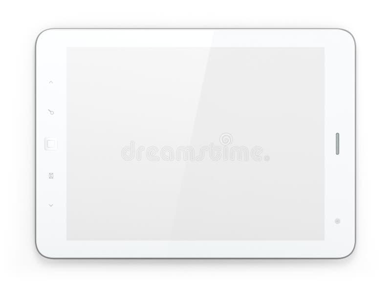Na biały tle pastylka piękny biały komputer osobisty ilustracja wektor