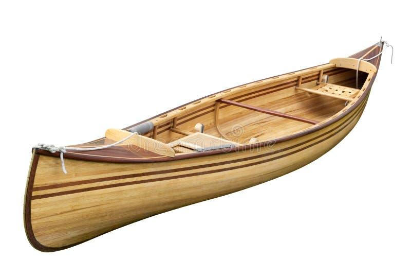 Na biel mała wioślarska łódź fotografia royalty free