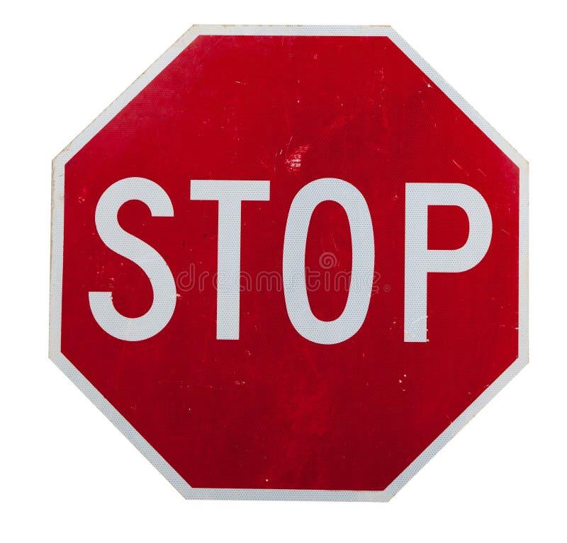 Na biel przerwa czerwony znak zdjęcia stock