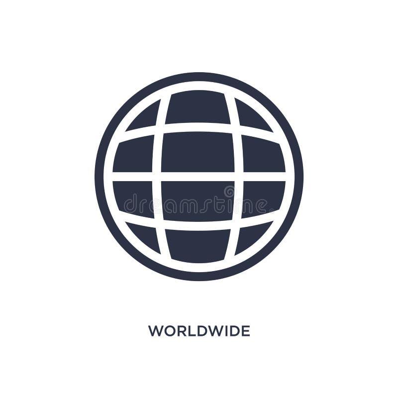 na całym świecie ikona na białym tle Prosta element ilustracja od doręczeniowego i logistycznie pojęcia royalty ilustracja