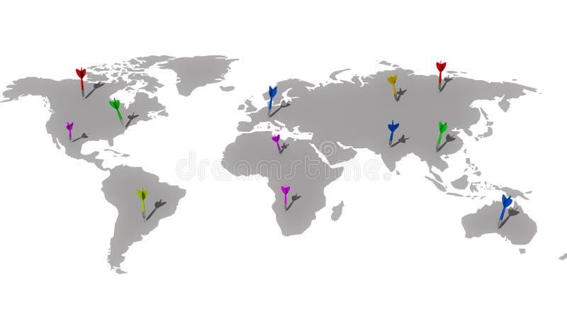 Na całym świecie cele ilustracja wektor