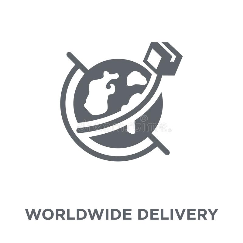 na całym świecie doręczeniowa ikona od dostawy i logistycznie kolekcji royalty ilustracja