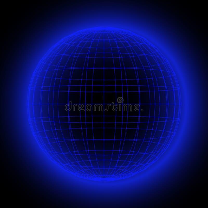 Na całym świecie globalna sieć komunikacyjna planety ziemia Wysocy prędkość dane, połączenie z internetem i Nowożytna technologia ilustracja wektor