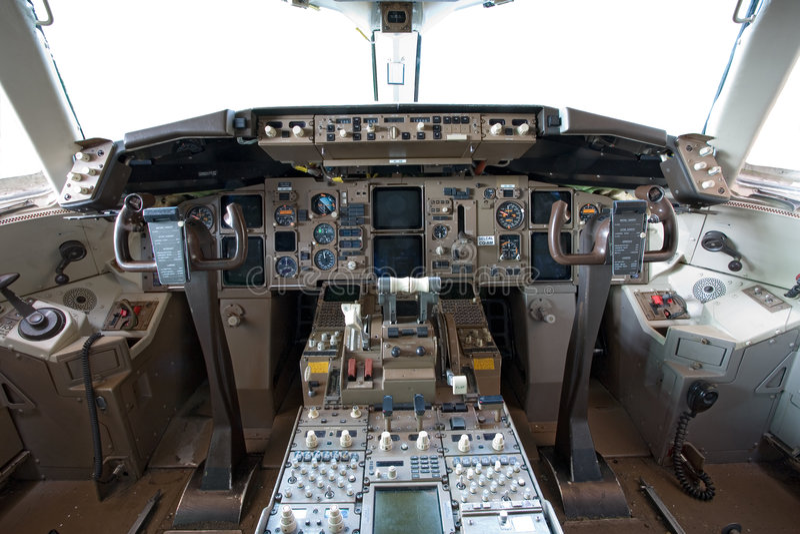 Na cabina do piloto fotos de stock