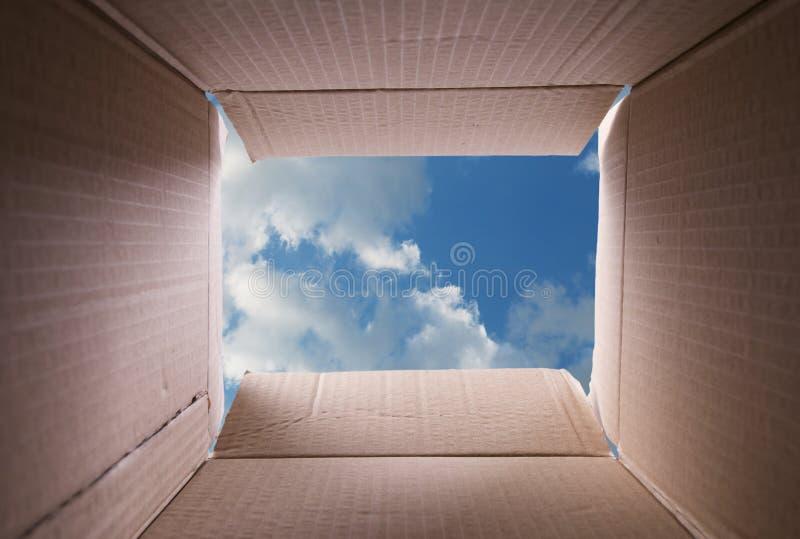 Na caixa imagens de stock