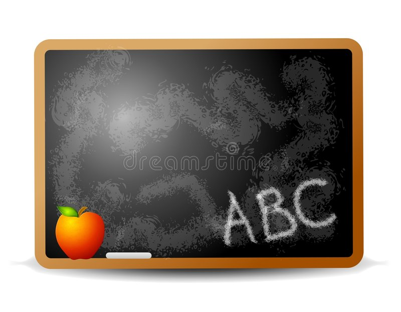 NA Chalkboard abc Writing ilustracja wektor