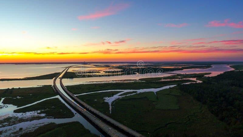 Na cidade móbil, beira-rio de Alabama imagem de stock royalty free