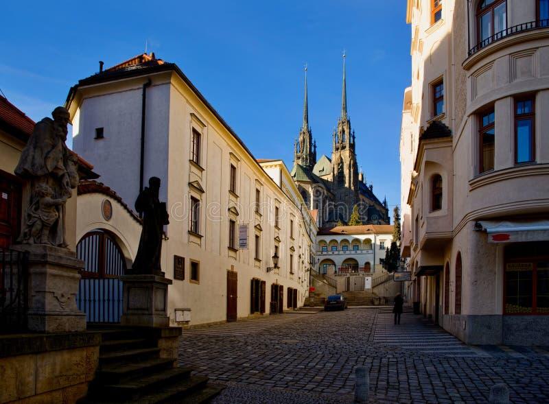 Na cidade velha Brno do centro imagens de stock royalty free