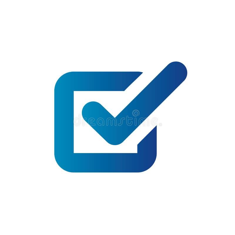 Na conformidade - o ícone ajustou-se que a empresa das mostras passou a inspeção ilustração do vetor