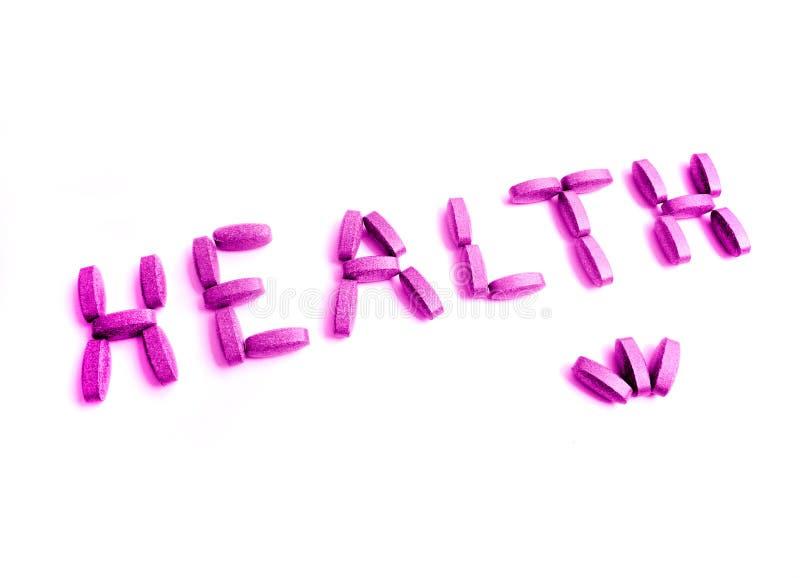 Na cor-de-rosa da saúde imagens de stock royalty free