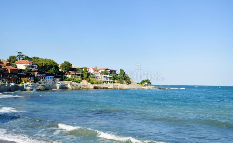 Na costa Nessebar foto de stock royalty free
