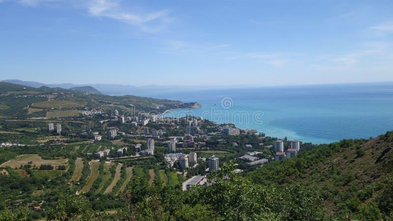 Na czarnym dennym wybrzeżu w Crimea zdjęcia stock