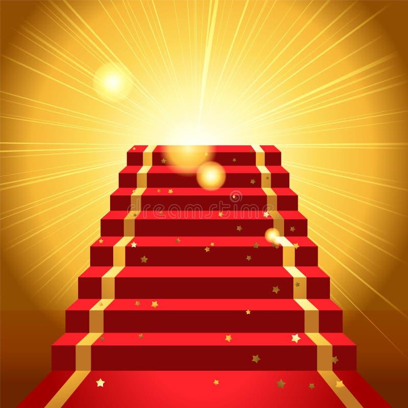 Na czerwonym chodniku royalty ilustracja