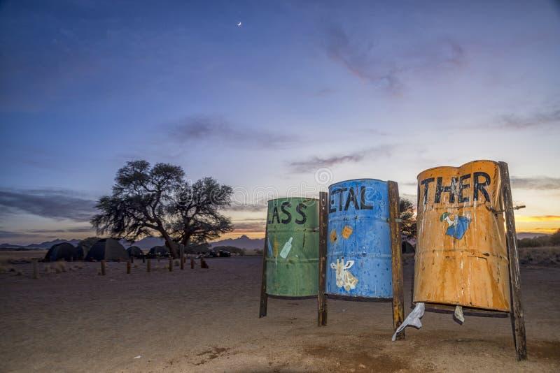Na de l'ONU de collection de déchets photographie stock libre de droits