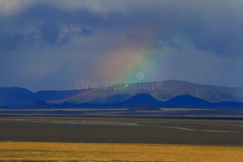 Na drodze, średniogórza, Iceland fotografia royalty free