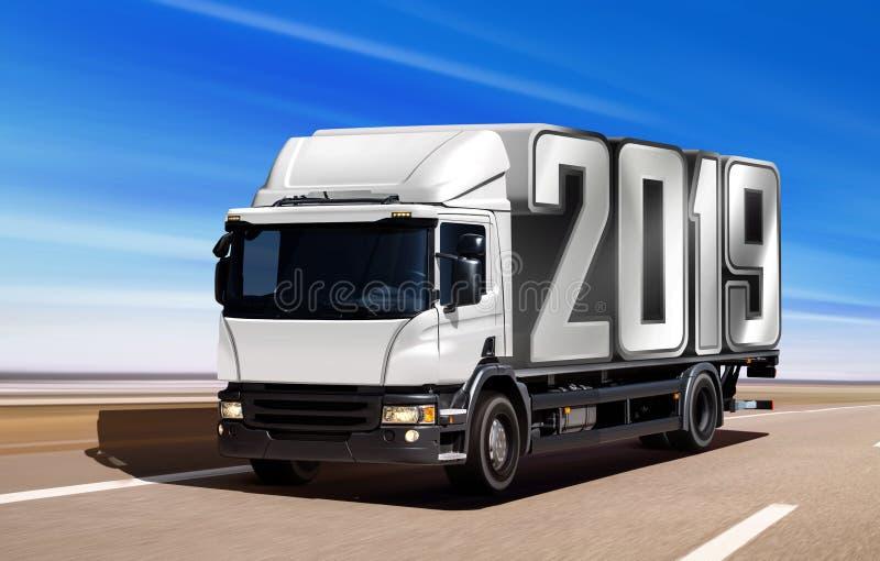 2019 na drodze fotografia stock