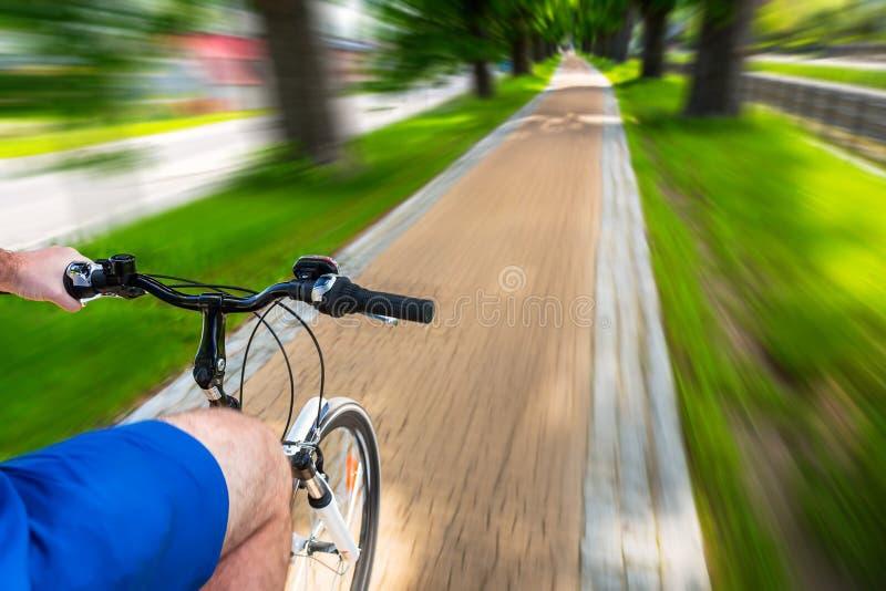 Na estrada da bicicleta fotografia de stock royalty free