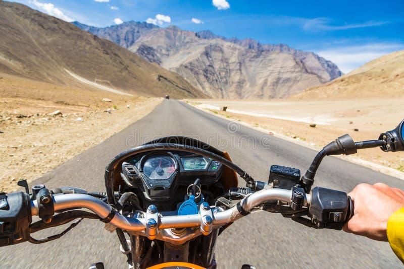 Na estrada em Ladakh, Índia fotografia de stock