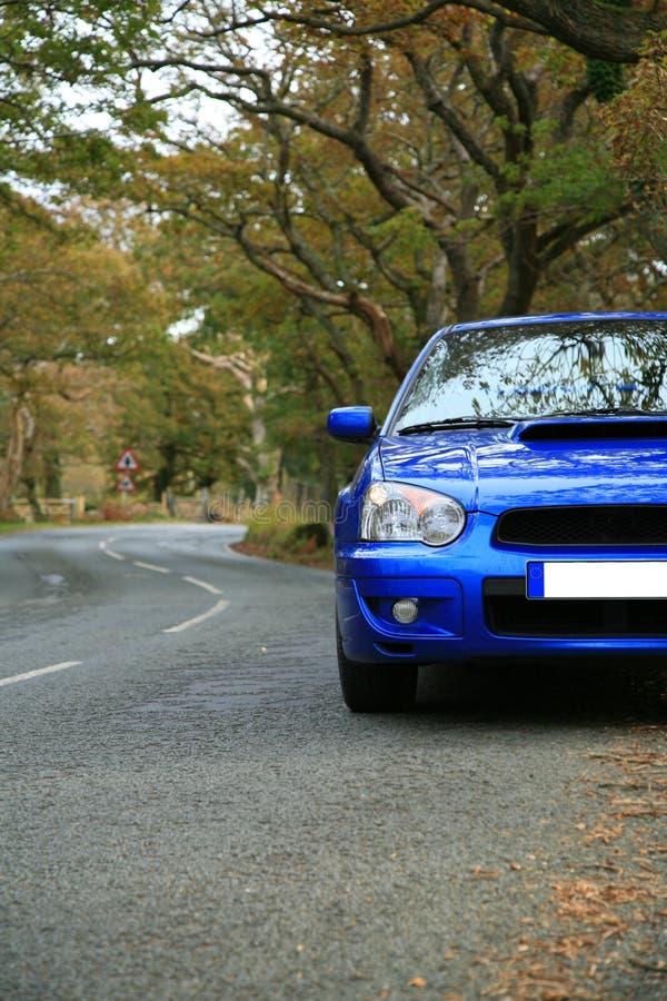 Na estrada - Subaru Impreza imagens de stock