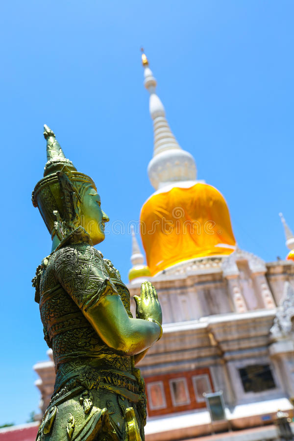 Na-Falbenpagode bei Maha Sarakham in Thailand lizenzfreies stockfoto