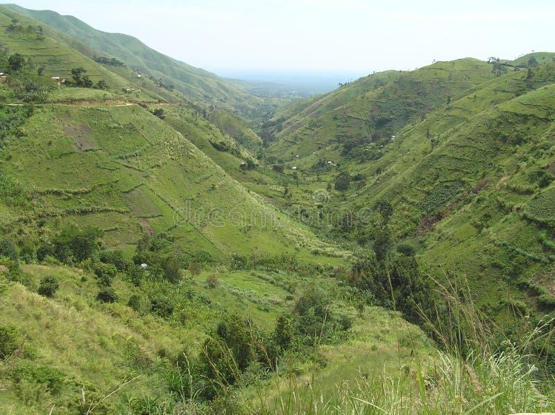 Na fortu portalu Lamia droga, Uganda - Bundibugyo - fotografia royalty free