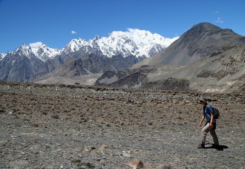 Na fuga de Karakorum fotografia de stock