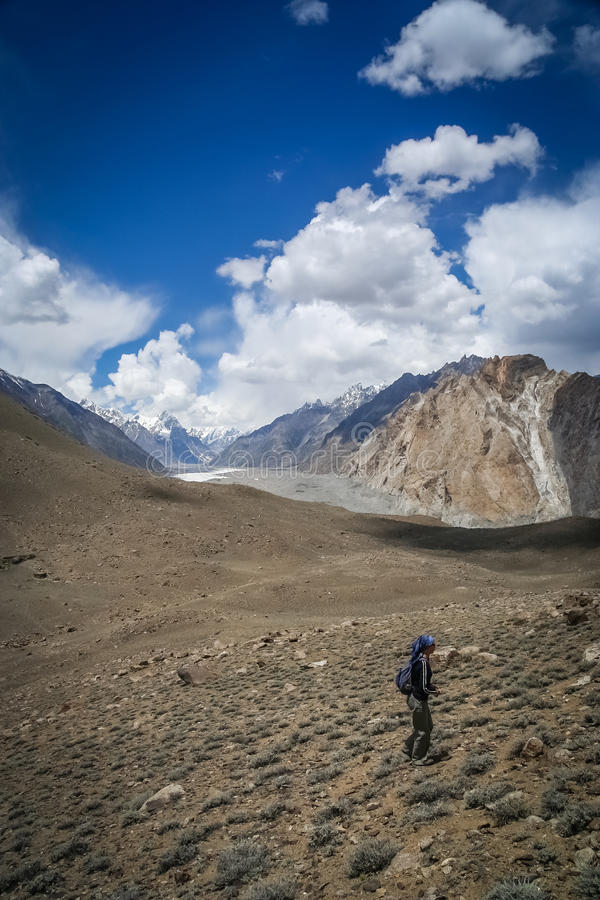Na fuga de Karakorum imagem de stock royalty free