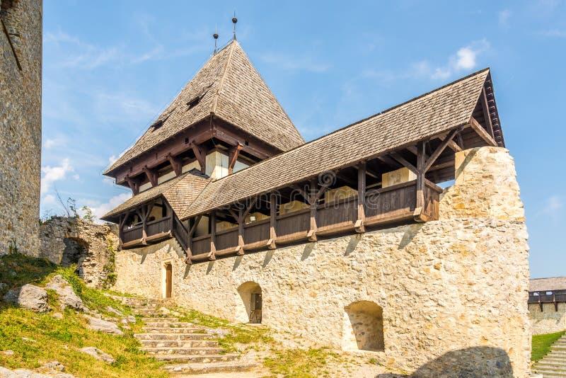 Na górnym dziedzińcu starego zamku w Celje - Słowenia obraz royalty free