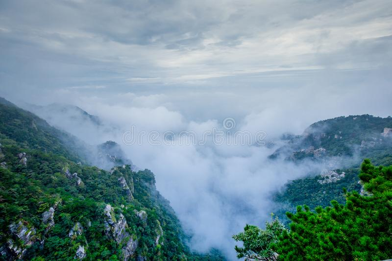 Na górze национального парка Lushan стоковая фотография