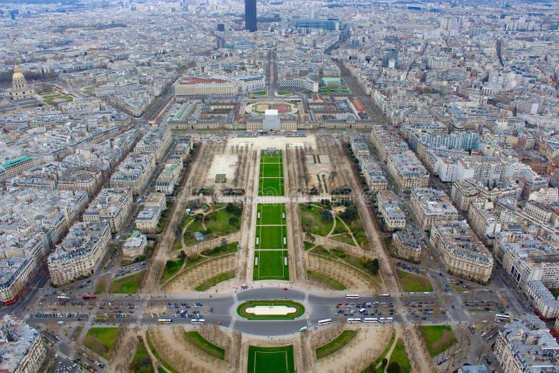 Na górze wieży eifla Francja Paryskiej wiosny obrazy royalty free
