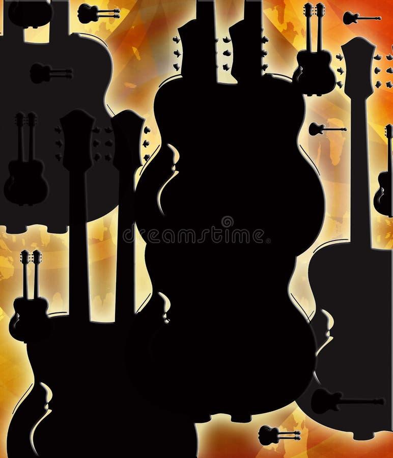 na gitarze ilustracja wektor