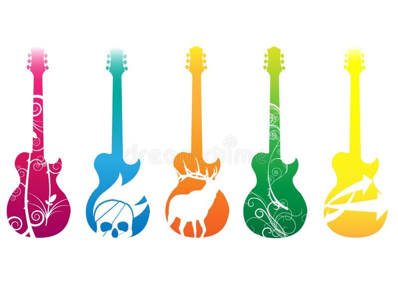 na gitarze royalty ilustracja
