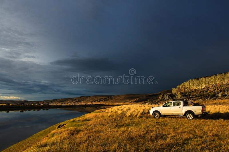Na het onweer stock fotografie