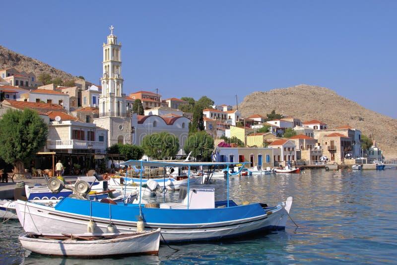 Download Na ilha de Halki imagem de stock. Imagem de tourism, facades - 29831645