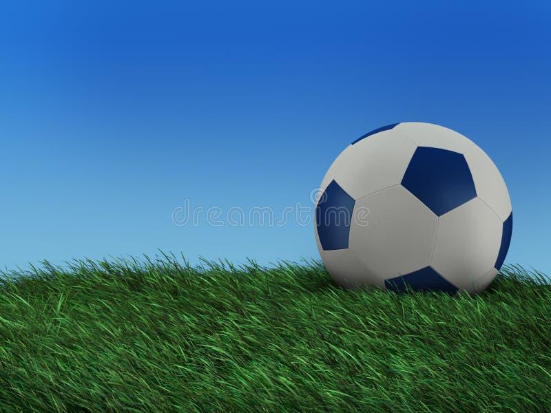 na ilustracyjna piłka nożna ilustracji